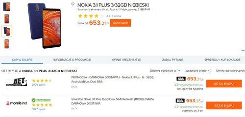 Nokia 3.1 Plus w Ceneo