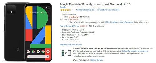 Pixel 4 w doskonałej cenie/fot. Amazon