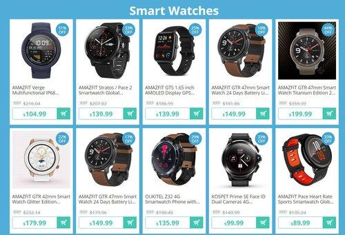Wielka wyprzedaż smartwatchy w GearBest