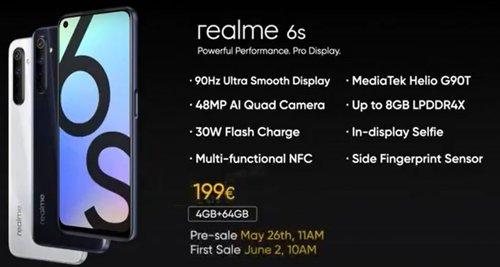 Specyfikacja Realme 6S/fot. Realme