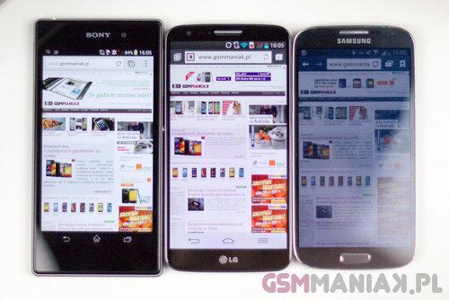 Ramki ekranu w LG G2 były zaskakująco wąskie jak na 2013 rok / fot. gsmManiaK