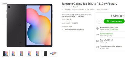 Samsung Galaxy Tab S6 Lite pojawił się w sklepach/fot. x-kom