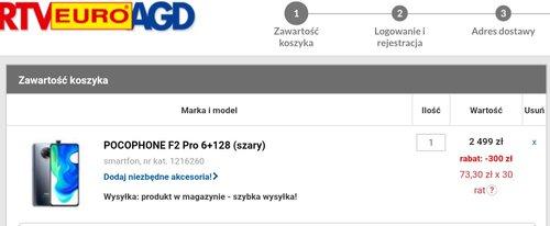Promocyjna cena POCO F2 Pro w RTV Euro AGD
