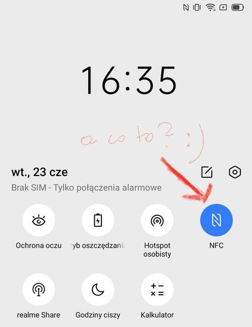 Ten zrzut ekranu potwierdza, że Realme 6S ma NFC