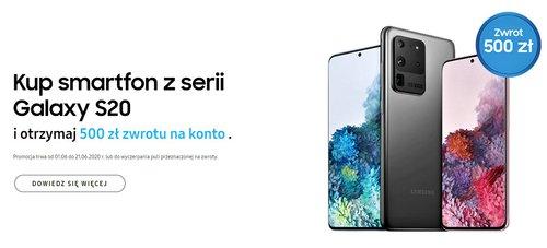 Samsung Odkup - kup Galaxy S20 i odzyskaj 500 zł