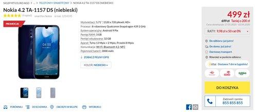 Promocyjna cena Nokii 4.2 w RTV Euro AGD