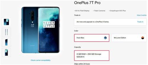 Promocyjna cena OnePlus 7T Pro w sklepie producenta