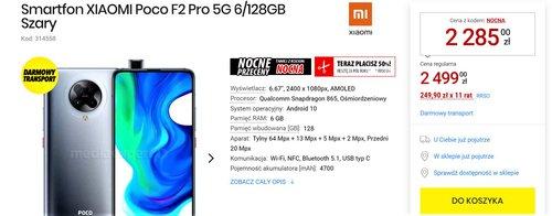 Cena Xiaomi POCO F2 Pro w nocnej promocji Media Expert