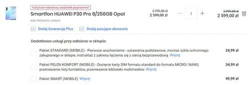 Promocyjna cena Huawei P30 Pro w Media Expert