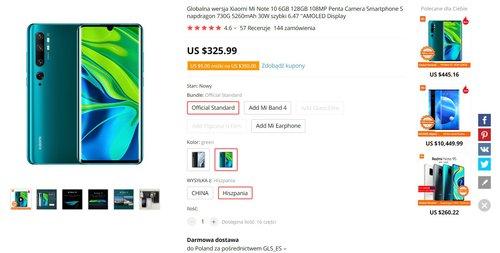 Promocyjna cena Xiaomi Mi Note 10 jest świetna!