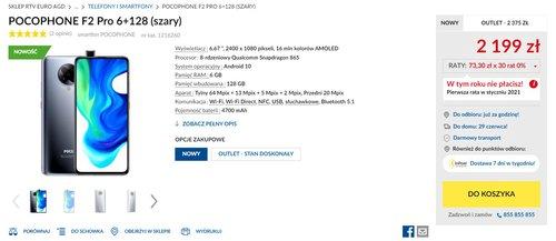 Promocyjna cena Xiaomi POCO F2 Pro w RTV Euro AGD