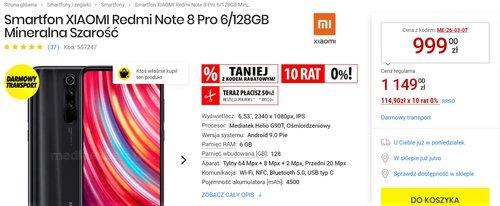 Promocyjna cena Xiaomi Redmi Note 8 Pro w Media Expert