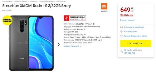 Xiaomi Redmi 9 dostępny w Media Expert