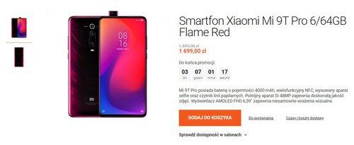 Promocyjna cena Xiaomi Mi 9T Pro w Mi Store