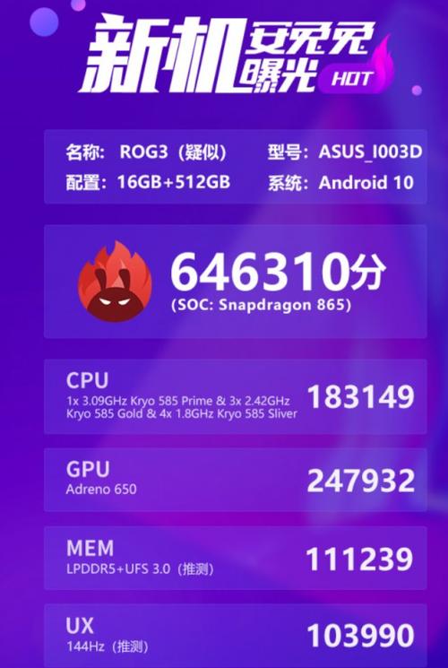 ASUS ROG Phone 3/fot. AnTuTu