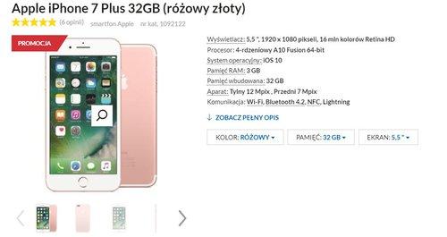 Fajna promocja na iPhone 7 Plus w RTVeuroAGD