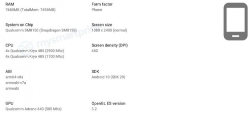 Realme X3 ze Snapdragonem 855 Plus/fot. GSMarena