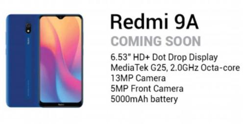 Specyfikacja Redmi 9A trafiła do sieci/fot. SlashLeaks