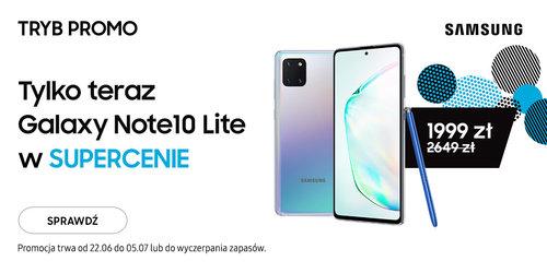 Promocyjna cena Galaxy Note 10 Lite w Vobis i innych sklepach