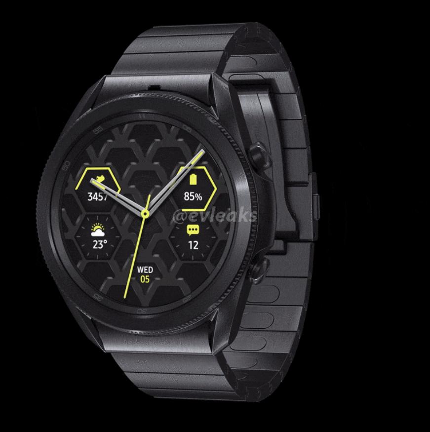 Samsung Galaxy Watch 3 w tytanowej wersji/ fo. evleaks