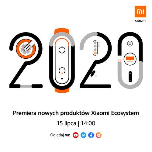 Zaproszenie na globalną premierę nowych produktów Xiaomi, w tym Mi Band 5