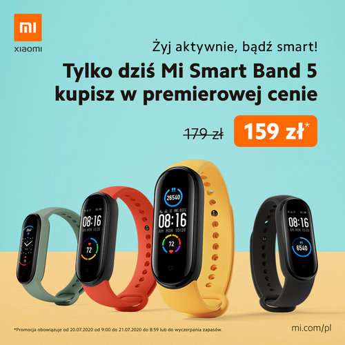 Mi Smart Band 5 już w Polsce! / fot. Xiaomi Polska