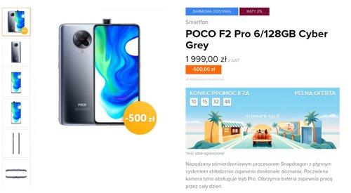 Promocja cena POCO F2 Pro w oficjalnej polskiej dystrybucji (np. w Mi-home)