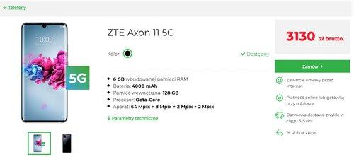 ZTE Axon 11 5G w Plus - oferta za gotówkę