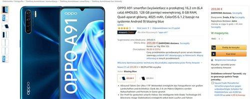 Promocyjna cena OPPO A91 na Amazon.de