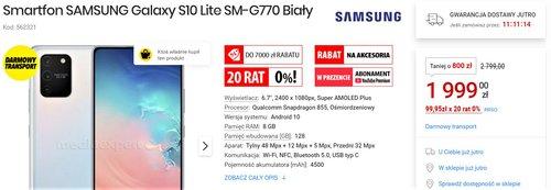Promocyjna cena Samsunga Galaxy S10 Lite w Media Expert i innych sklepach