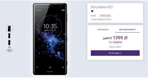 Sony Xperia XZ2 w promocyjnej cenie w Play bez umowy