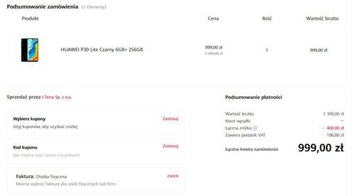 Promocyjna cena Huawei P30 Lite NE w oficjalnym sklepie producenta