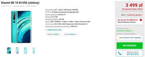Promocyjna cena Xiaomi Mi 10 w OleOle! (i NEONET)