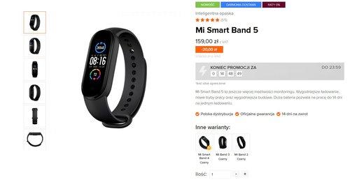 Xiaomi Mi Smart Band 5 już w polskiej sprzedaży i od razu w promocyjnej cenie