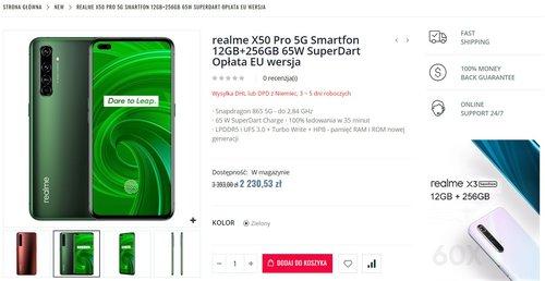 Promocyjna cena Realme X50 Pro w Edwaybuy