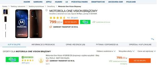 OleOle! ma jedyną sensowną ofertę na Motorolę One Vision