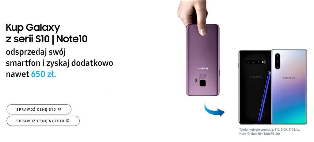 Nowa edycja Samsung Odkup dla smartfonów Galaxy S10 i Galaxy Note 10