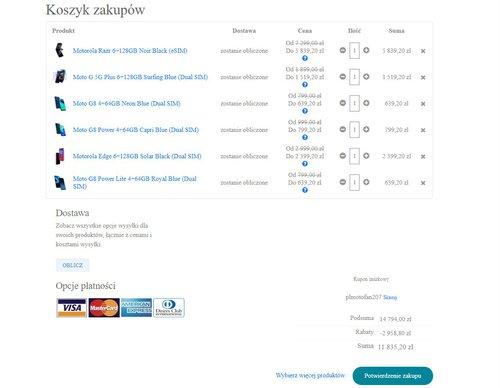 Promocyjne ceny smartfonów Motorola w oficjalnym sklepie producenta