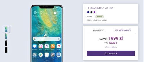 Cena powracającego Huawei Mate 20 Pro w sklepie Play bez umowy