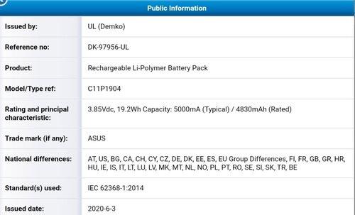 ASUS ZenFone 7 z baterią 5000 mAh / fot. @_the_tech_guy