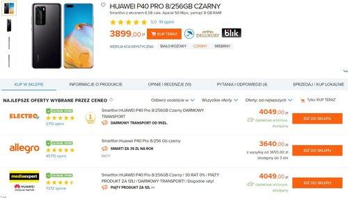 Huawei P40 Pro w nowej cenie w Polsce/fot. Ceneo