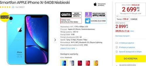 iPhone Xr za 2699 złotych to nadal niezły zakup