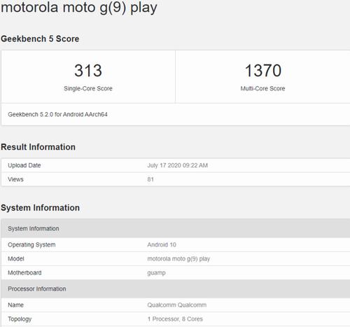 Specyfikacja Motoroli Moto G9 Play/fot. NashvilleChatter