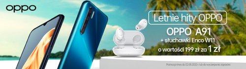 Przy zakupie Oppo A91 słuchawki Enco W11 dostaniesz za 1 złoty/fot. Oppo