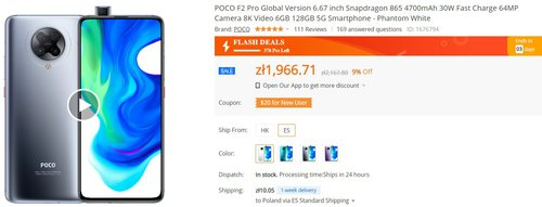 POCO F2 Pro za mniej niż 2000 złotych to świetny wybór