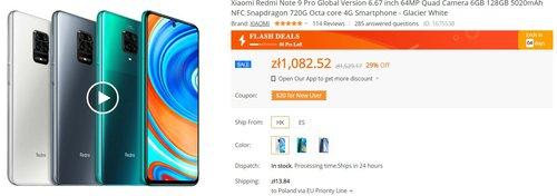 Redmi Note 9 Pro w tej cenie to bezkonkurencyjny wybór