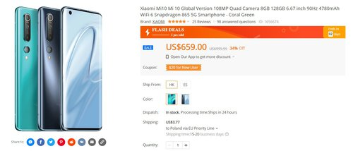Xiaomi Mi 10 w tej cenie to świetna okazja