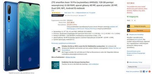ZTE Axon 10 Pro za mniej niż 1500 złotych to świetny zakup