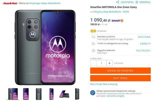 Promocyjna cena Motoroli One Zoom w MediaMarkt na Allegro