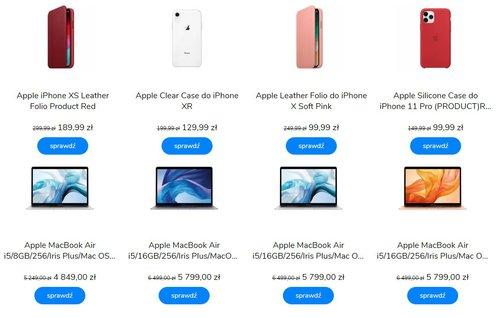 Niektóre promocyjne sprzęty Apple